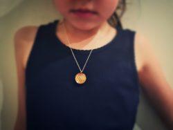 Halssmykke ekte slangeskinn barn